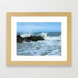 Saltwater Splash Framed Art Print