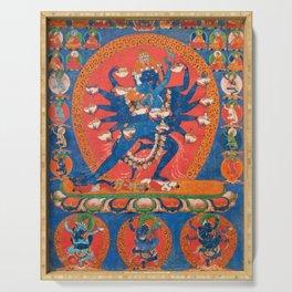 Hevajra Yidam Vajrayana Buddhism Blue Serving Tray
