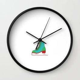 Lovely Gift Ice Skating Tshirt Design Like inline skating but way cooler Wall Clock