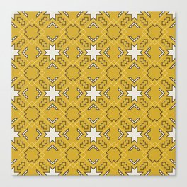 Ethnic pattern in yellow Canvas Print