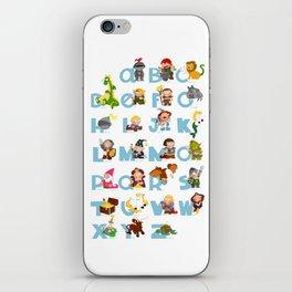 ABC  medieval (english) iPhone Skin