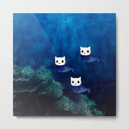 Cats Mermaid-199 Metal Print