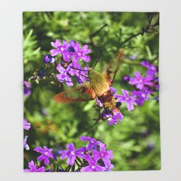 Hummingbird Moth Throw Blanket