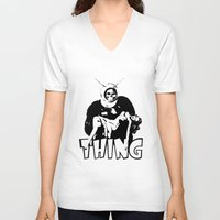 the thing V-neck T-shirts featuring THING by Taylor Bissett