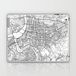 Taipei White Map Laptop & iPad Skin
