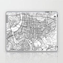 Taipei White Map Laptop & iPad Skin