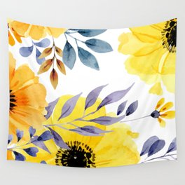 FLOWERS WATERCOLOR 10 Wall Tapestry