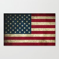american flag Canvas Prints featuring American Flag by Abbie :)