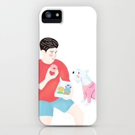 Dog wants Donuts iPhone Case