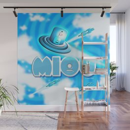 Miou in Blue! Wall Mural