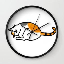 Comfy Calico Cat Wall Clock