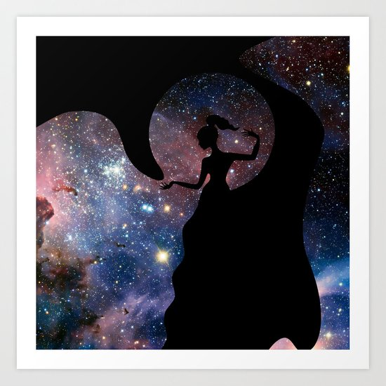 Galaxy From Within Art Print