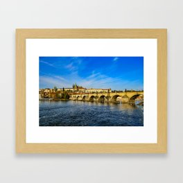 Charles Bridge in Prague Framed Art Print