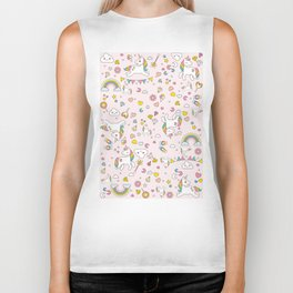Unicorn Pattern Biker Tank