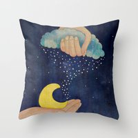 Handmade Night Throw Pillow