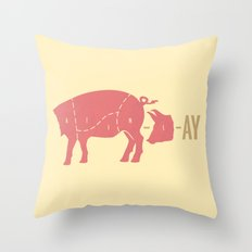 Pig Latin Throw Pillow