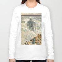 bath Long Sleeve T-shirts featuring THE BATH by Julia Lillard Art