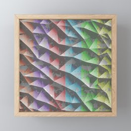 Abstract triangle background Framed Mini Art Print