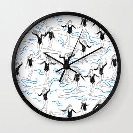 surfer girls Wall Clock