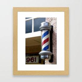 Barber Sign Framed Art Print