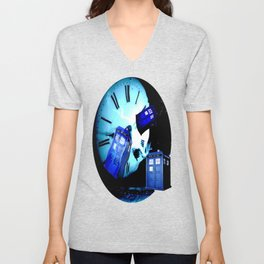 TARDIS BLUE Unisex V-Neck