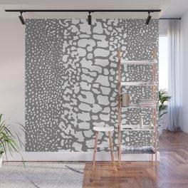 ANIMAL PRINT SNAKE SKIN GRAY AND WHITE PATTERN Wall Mural