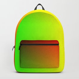 Rainbow red, yellow, and green ombre flame print Backpack