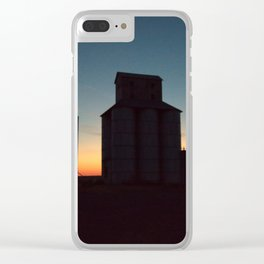 Silos at Sunrise Clear iPhone Case