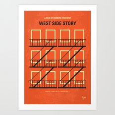 No387 My West Side Story minimal movie poster Art Print