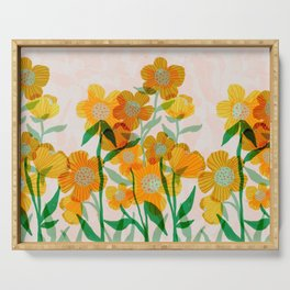 Buttercups in Sunshine Serving Tray