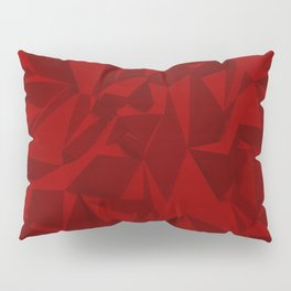 Red Relief Pillow Sham
