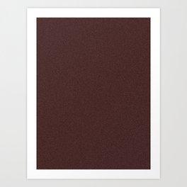 Dark Sienna Brown Saturated Pixel Dust Art Print