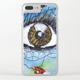 I SEE FLOWERS Clear iPhone Case