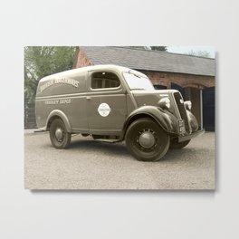 British Waterways van - selective colour Metal Print
