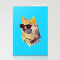 doge Stationery Cards featuring Polygonal Doge  by Michael Fortman