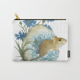 Field Mouse and Celestite Geode Carry-All Pouch
