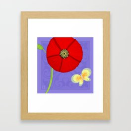 P is for Poppy Framed Art Print