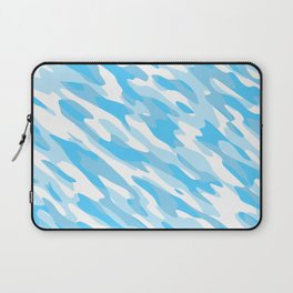 Blue and white Camo anstract Laptop Sleeve