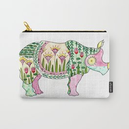 Floral Pattern Rhino Carry-All Pouch