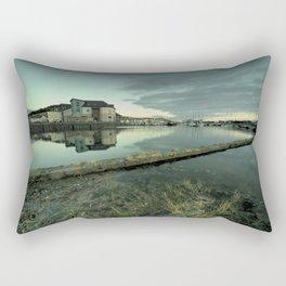 Aberystwyth harbour twylight Rectangular Pillow