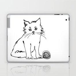 Katzen 012 / Cute Kitten Minimal Line Drawing Laptop & iPad Skin
