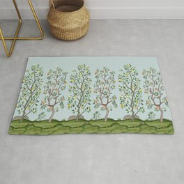 Chinoiserie Citrus Grove Mural Multicolor Rug