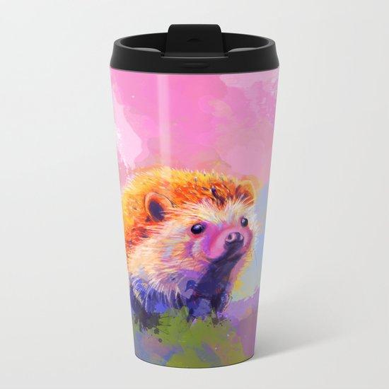 Sweet Hedgehog Metal Travel Mug