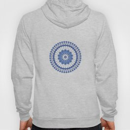 Blue round lace Hoody