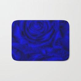 Gorgeous Roses, deep blue Bath Mat