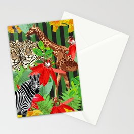 Wild Animals Jungle Pattern Stationery Cards