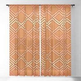 ELECTRIC ORANGE Geometric Diamonds #society6 #shapes Sheer Curtain