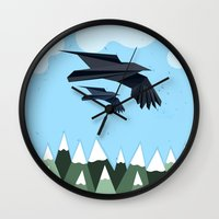 blues brothers Wall Clocks featuring Brothers by Jacek Muda