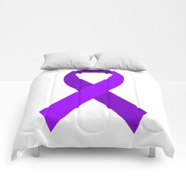 Purple Awareness Support Ribbon Comforters