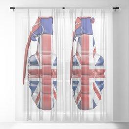 British grenade Sheer Curtain